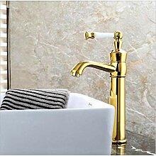 Küchenarmatur Badarmatur heiß und kalt Gold