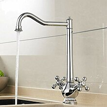 Küchenarmatur Chrom 360 Grad Waschbecken