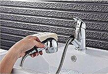 Küchenarmatur Chrom ausziehbar mit Handbrause