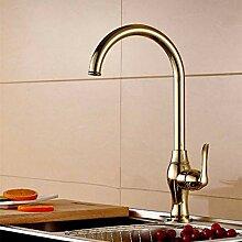 Küchenarmatur Chrom Kupfer Wasserhahn kalt und
