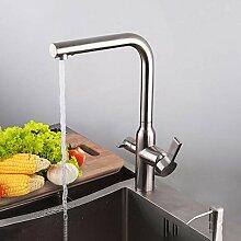Küchenarmatur Edelstahl Spüle Wasserhahn