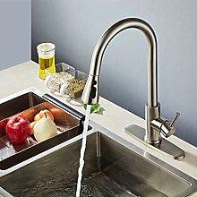 Küchenarmatur Edelstahl Wasserhahn ziehen