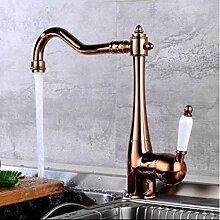Küchenarmatur Einhalter Einloch-Spüle Wasserhahn