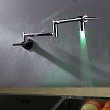 Küchenarmatur - Einhand-Einloch-Chromtopffüller