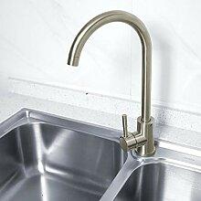 Küchenarmatur, gebürstet Ausziehbarer Wasserhahn