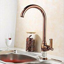 Küchenarmatur Gold/Rotgold Kupfer für Kalt- und