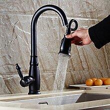 Küchenarmatur, Kette pull wasserhahn, Waschbecken schwarz waschbecken wasserhahn