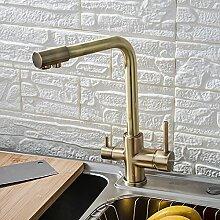 Küchenarmatur Küchenfilter Wasserhahn Balck mit
