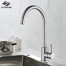 Küchenarmatur Mattschwarz/Gebürstetes Nickel