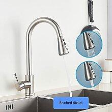 Küchenarmatur Mattschwarz Wasserhahn Deck