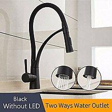 Küchenarmatur mit Gummi-Design LED für Küche