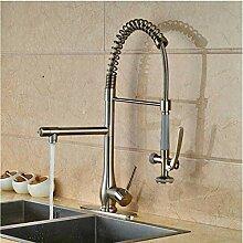 Küchenarmatur mit herausziehbarem Wasserhahn,