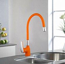 Küchenarmatur mit Spiegel, Kupfer/Silberfarben