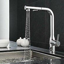 Küchenarmatur mit versenkbarem Duscharmatur 360