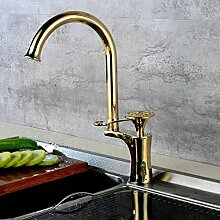 Küchenarmatur Mixer Schwarz Einhand Ein Loch