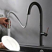 Küchenarmatur schwarz herausziehen Rotation