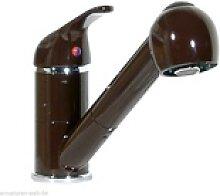 Küchenarmatur Spüle Wasserhahn Brause Mocca