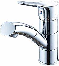Küchenarmatur Voll Kupfer Becken Pull Wasserhahn