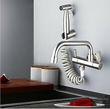 Küchenarmatur Wandmontage Doppelgriff 304