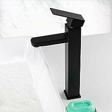 Küchenarmatur, Waschbecken Wasserhahn schwarzes