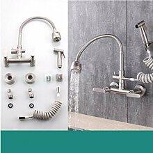 Küchenarmatur Wasserhahn Mit Dual-Spülbrause 304
