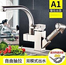Küchenarmatur Wasserhahn Pull-Typ Heiße Und