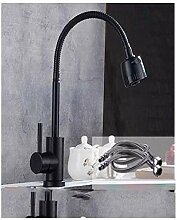 Küchenarmatur Wasserhahn Schwarz Flexible