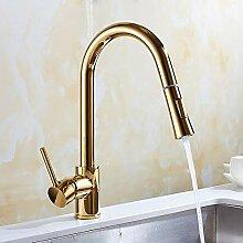 Küchenarmaturen Golden Pull Wasserhahn
