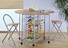 Küchenbar, klappbar mit 2 Stühlen - Küchentisch