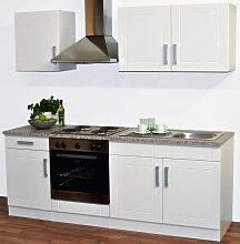 Küchenblock in Weiß (5-teilig)