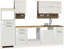 Küchenblock in Weiß hochglänzend Made in