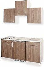 Küchenblock MEBASA Miniküche 150 cm Ulme Dekor