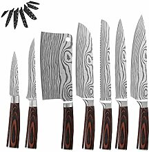 Küchenchef Messer Set Damaskus Muster Klinge