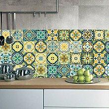 Küchenfliesenaufkleber, Retro-Tapete, wasserdicht