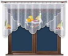 Küchengardine mit Krüselband Scheibengardinen