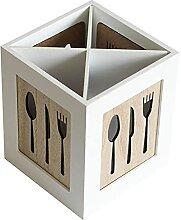 Küchengerät-Caddy mit 4 Fächern, rustikaler