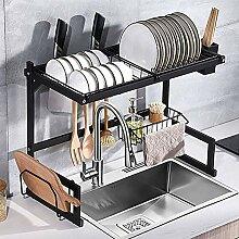 Küchengeschirrständer über Waschbecken,