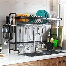 Küchengeschirrtrockner über Waschbecken,