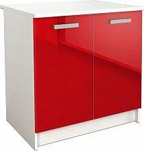 Küchenhängeschrank ModernMoments Farbe: Rot