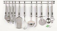 Küchenhelfer Set 10er Edelstahl Küchenreling