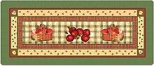 Küchenläufer 120x50 cm Apfelkörbe Fußmatte Küchenteppich
