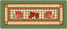 Küchenläufer 180x50 cm Apfelkörbe Fußmatte Küchenteppich