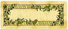 Küchenläufer 180x50 cm Oliven Fußmatte Küchenteppich