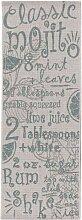 Küchenläufer Cottage Letters wool/ spa blue