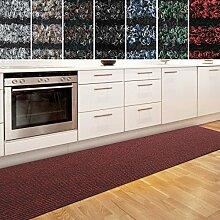 Küchenläufer Granada in großer Auswahl | strapazierfähiger Teppich Läufer für Küche Flur uvm. | rutschfester Teppichläufer / Flurläufer für alle Böden ( 80x350 cm Rot )