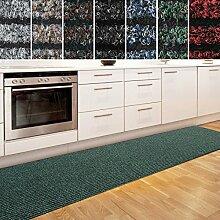 Küchenläufer Granada in großer Auswahl | strapazierfähiger Teppich Läufer für Küche Flur uvm. | rutschfester Teppichläufer / Flurläufer für alle Böden ( 80x200 cm Grün )