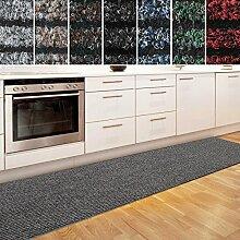 Küchenläufer Granada in großer Auswahl | strapazierfähiger Teppich Läufer für Küche Flur uvm. | rutschfester Teppichläufer / Flurläufer für alle Böden ( 80x900 cm Beige )