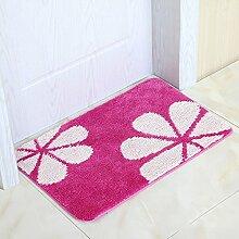 Küchenmatten - Fußmatte Schlafzimmer Küche Matten Semi-Circular Mat Bad Matten Die Tür Pad ( Farbe : Pink , größe : 45*120cm )