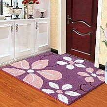 Küchenmatten - Handgemachte Matten-Tür-Matten Anti-Rutsch-Matte Saugfähige Pad Hall Pad Faser-Material ( Farbe : 1# , größe : 90*110cm )