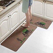 Küchenmatten - Rutschfeste Microfaser Badematte Badematten Dusche Teppiche Teppich für Badewanne, Boden, Dusche Stall, rot, lila, braun ( Farbe : A , größe : 50*80+50*120 cm )
